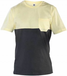 Two-colored Pocket T-Shirt _ Yellow - Snap Climbing