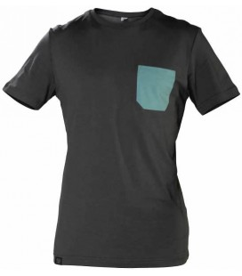 Monochrome Pocket T-Shirt _ Light Black - Snap Climbing