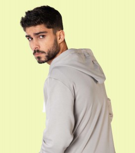 Zip Hoody _ Light Grey - Snap Climbing