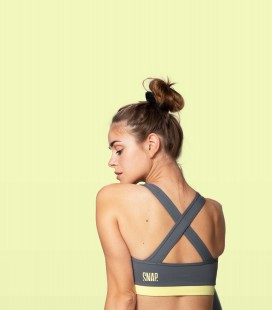 Crossed Bra _ Dark Grey - Snap Climbing